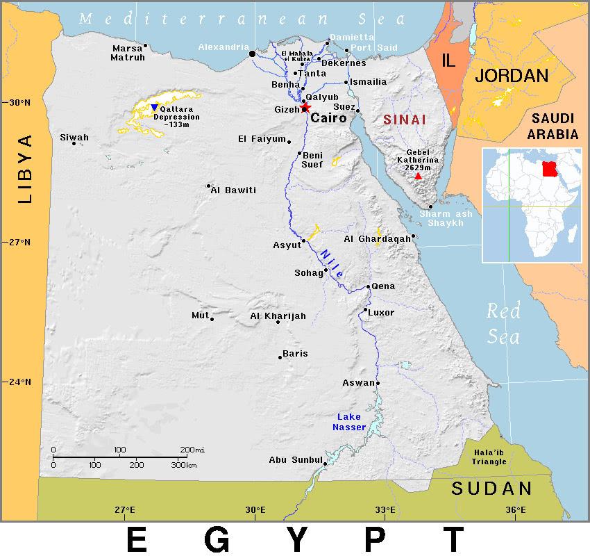 egitto-cartina-1 Geografia