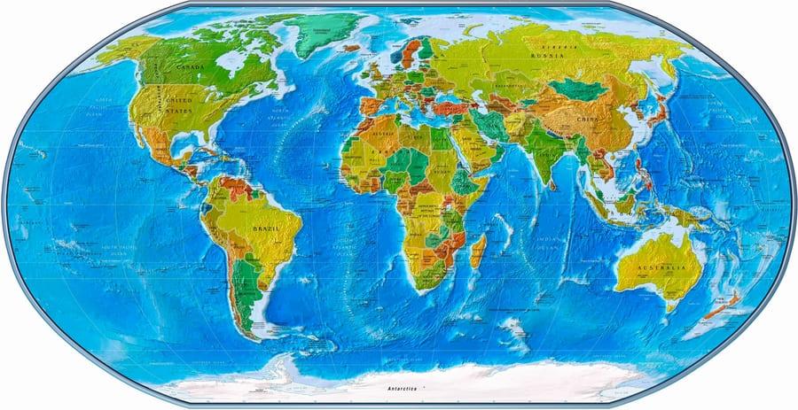 planisfero-fisico-politico Le carte geografiche